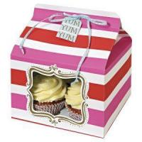 China china Cheap Single Individual Cupcake Boxes Packaging Transparent Paper Cupcakes Storage Box With L on sale