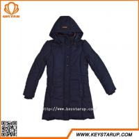 China Slim Fitted Winter Coat Snap Button Jacket Medium Length Ladies Overcoat Made In China on sale