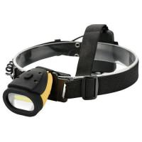 Plastic 3W COB LED Headlamp Torch Reach 150 Lumens 3 Light Function Powered by AAA Dry Battery