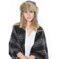 China 2017 New Design Leifeng Earflap Hat Rabbit Fur Caps Real Rabbit Fur Trapper Hat on sale