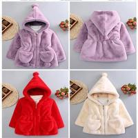China Cute Hot Sale Girls and Boys Baby Long Hair Solid Color Fake Fur Plush Winter Coat on sale