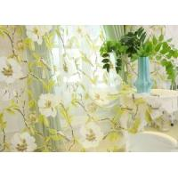 Quality SINOGEM New Flowers&Birds Design Sheer Curtains for Living Room Decorative Modern Curtains for the B wholesale