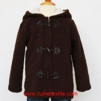 Quality Fluffy Fleece Baby Boy Coat Winter Hooded Jacket for Children wholesale