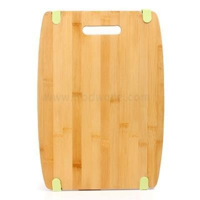 Cheap Rectangular Natural Bamboo Wooden Chopping Board with Juice Groove FSC China for sale