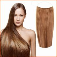 China Light brown halo flip in hair extensions on sale