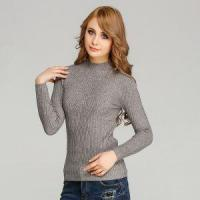 Quality Elastic Bodycon Knitted Pullover Sweater Angora Like Warm Ribbed Knitwear for Women wholesale
