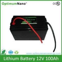 Buy cheap Solar Lifepo4 12V100Ah Lithium Battery For Energy Storage product