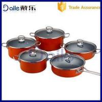 China Glass Lid Enamel Non-stick Cookware Set on sale