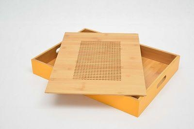 Cheap Colour Bamboo Fast Food Tray for sale