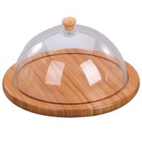 Quality Bamboo Cheese Board With Dome wholesale
