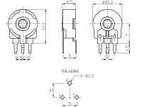 China Trimmer Potentiometers PT10 (H5) on sale