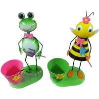 Quality Metal Frog Flower Pot bee flower Pot Garden Decoration wholesale
