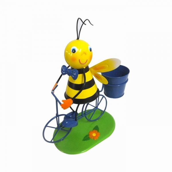 Cheap Metal bee flower pot Bicycle Garden Decor for sale