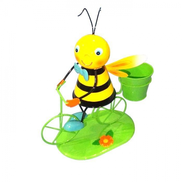 Cheap Metal Bicycle Flower planter bee Garden decoration for sale