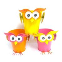Quality Metal Owl Flower planter Garden Decor wholesale
