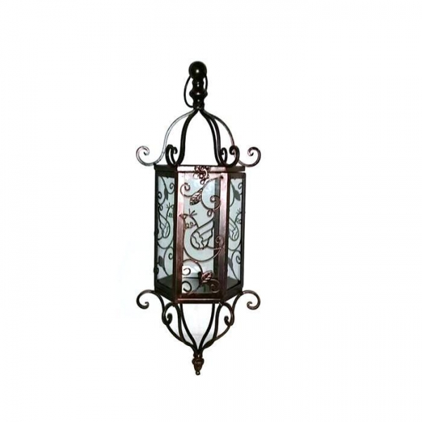 Cheap Metal lantern glass for indoor/ outdoor decoration for sale