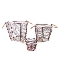 Metal Wire Storage Basket With Handles