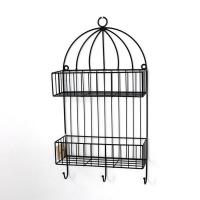 Quality Metal Wall Mounted Storage Rack 2 Tiers for indoor decoration wholesale
