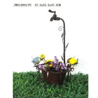 Quality Metal Planter With Faucet Holder Rusty Yard Decor wholesale