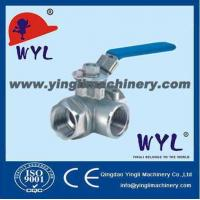 Quality stainless steel screwed three-way ball valve SS Valves wholesale