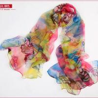 Buy cheap New Cutting Printing Silk Long Scarf from wholesalers