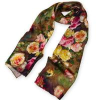 Buy cheap Custom Printing Lady's Silk Scarf from wholesalers