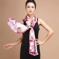 Quality Digital Printing Hand Rolling Lady's Silk Scarf wholesale