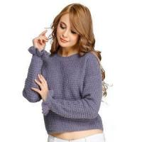 Quality New Design Chunky Knitted Jumper Computer Knit Sweater Half Milano Stitch Ruffle wholesale