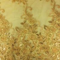 Quality Embroidery wedding lace trims, Decoration with cord and imitation pearl, available in colors wholesale
