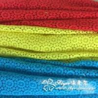 Quality Cotton lace fabric, made of 70% cotton + 30% nylon, suitable for womens apparel wholesale