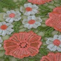 Quality 2016 Popular Pink Flower Embroidery Lace Trim From China wholesale