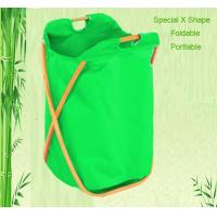 Buy cheap x shaped foldable bamboo laundry basket from wholesalers