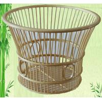 Buy cheap round shaped green bath storage basket from wholesalers