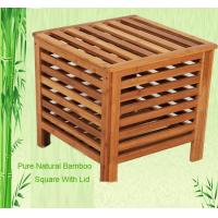 Buy cheap natural bamboo bathroom laundry basket from wholesalers