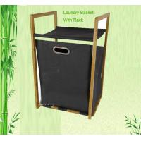 Buy cheap bamboo clothes basket with portable handle from wholesalers
