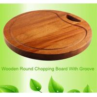 China round wood chopping board with groove on sale