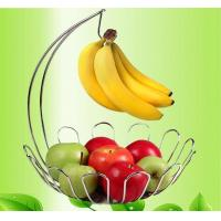 Quality metal fruit rack fruit holder with basket banana stand wholesale