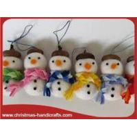 China Wool Santa,dolls Christmas tree decorations handmade wool snowman on sale