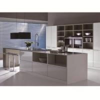 Quality Modern High Gloss UV Coating Cabinet Furniture with Kitchen Island wholesale
