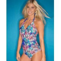 Buy cheap Pour Moi Aruba Control Halter Swimsuit Blue Multi from wholesalers