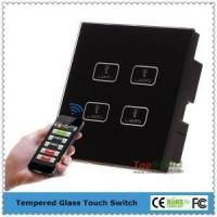 China 4 gang smart phone APP Wifi directly Remote control touch light switch on sale