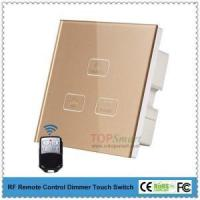 China UK Standard 3 key 1 load RF Remote control dimmer touch switch for smart lighting control on sale
