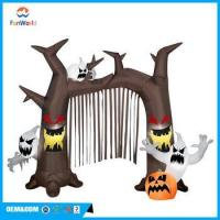 China Airblown Inflatable 9' X 4.5' Brown Scary Tree Halloween Decoration on sale