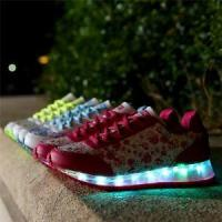 Quality New Style Womens LED Shoes USB Charging Light Up Shoes Wholesales Women's LED Sneakers wholesale