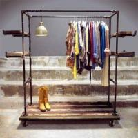 China DIY metal pipe clothes rack on sale