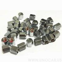 China Safety item 16060011 chrome valve stem Tire valve cap on sale