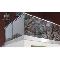 Outdoor Balcony U Channel Glass Railing, Aluminum U Based Channel Balustrade for Stair