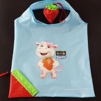 China factory directly 190t polyester promotional strawberry folding shopping bag on sale