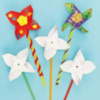 Quality Children Crafts Design A Windmill Pack Pack Of 8 Pcs Kids Activities wholesale
