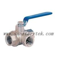Quality Code: V18-639 3-way brass ball valve, lever handle wholesale